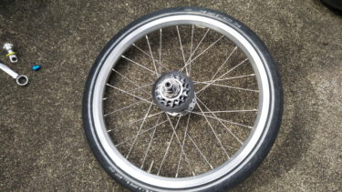 ブロンプトンの後輪の外し方、付け方(6速モデル)